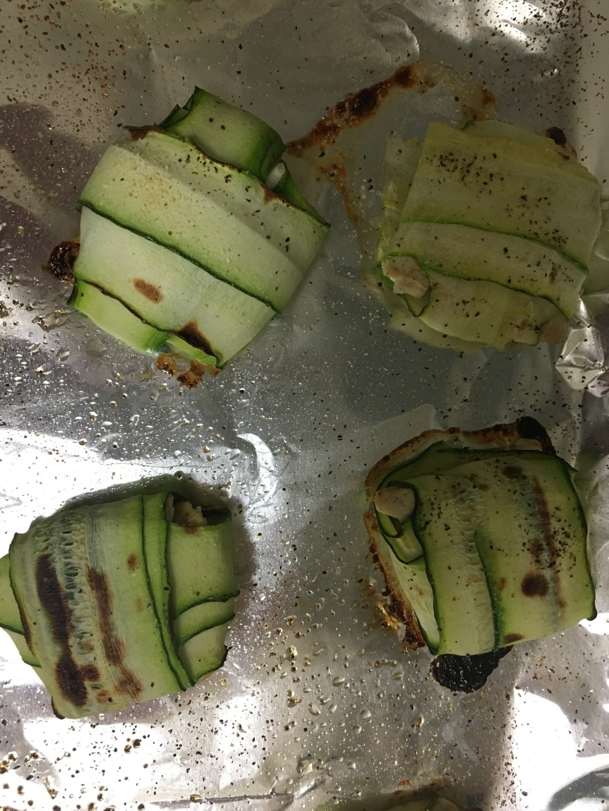Zucchini pillows out the oven