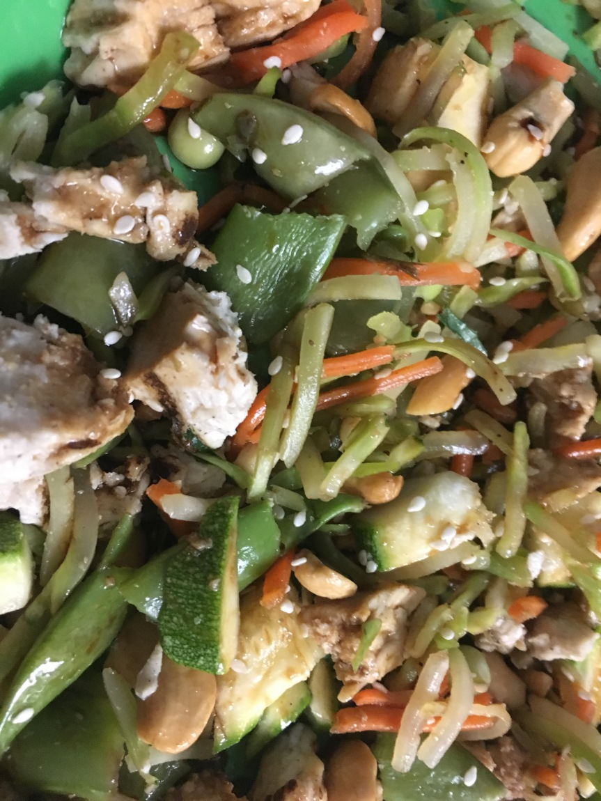 Cashew Chicken Broccoli Slaw