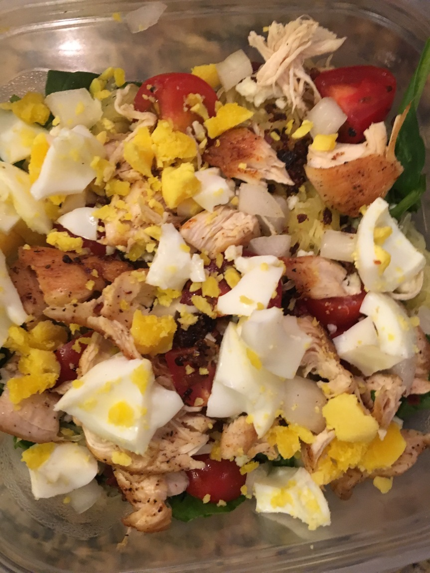 Chicken Cobb Spaghetti Squash Salad 2