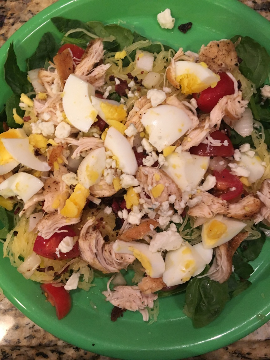 Chicken Cobb Spaghetti Squash Salad