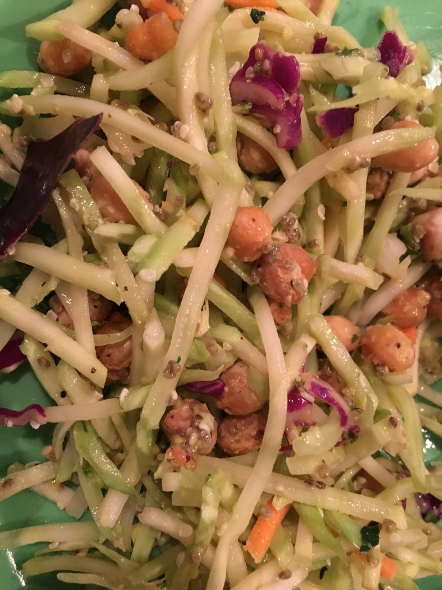 Roasted Chickpea Coleslaw