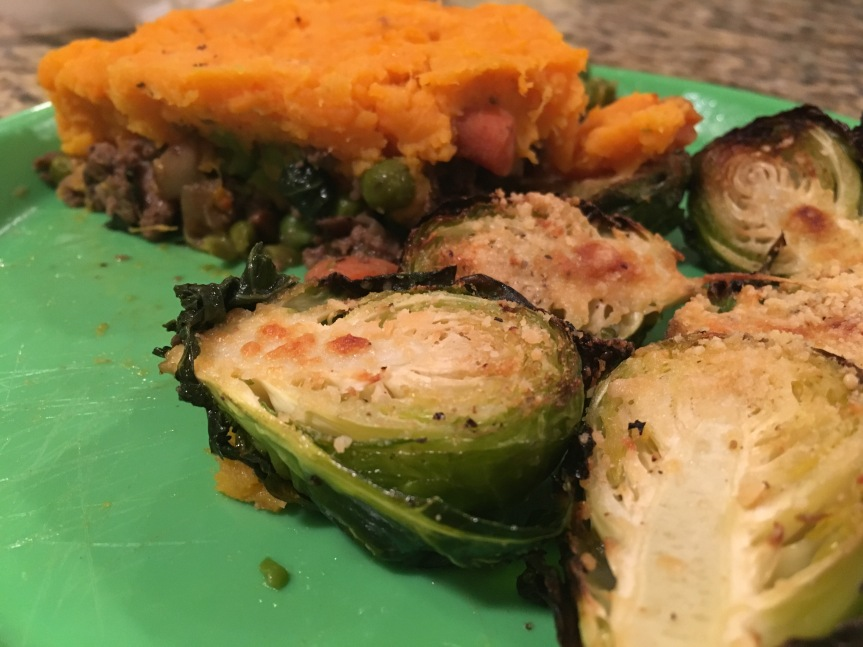 Shepherd's Pie with Parmesan Brussel Sprouts